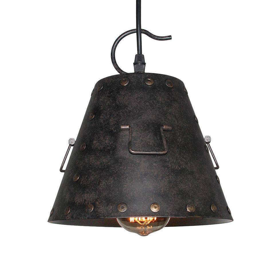 Lnc light vintage industrial pendant light iron lamp pendant