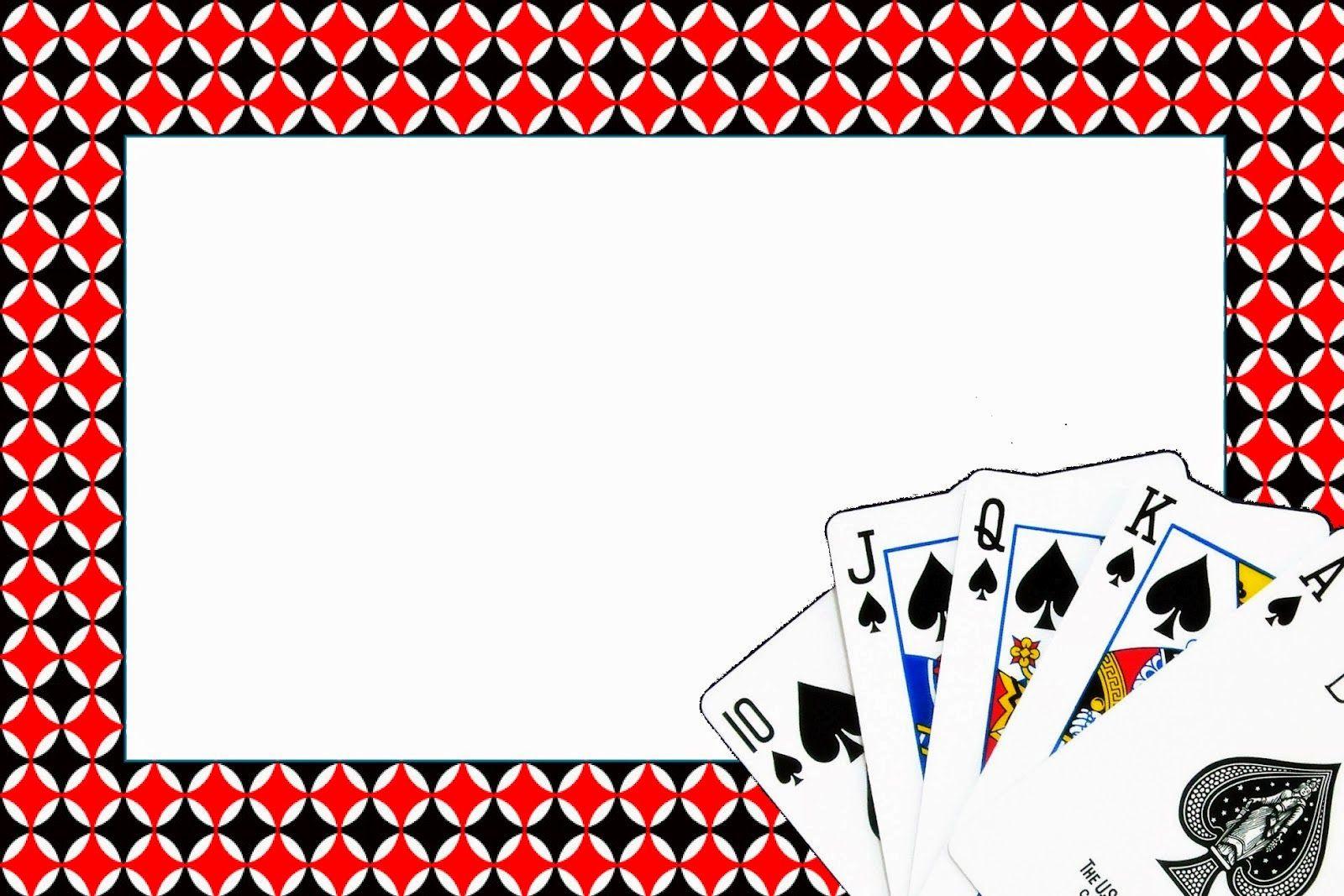 Poker Invitaciones Y Cajas Para Imprimir Gratis En 2019