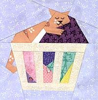 Sweet Kitty Dreams Paper-Pieced Quilt Pattern at paperpanache.com