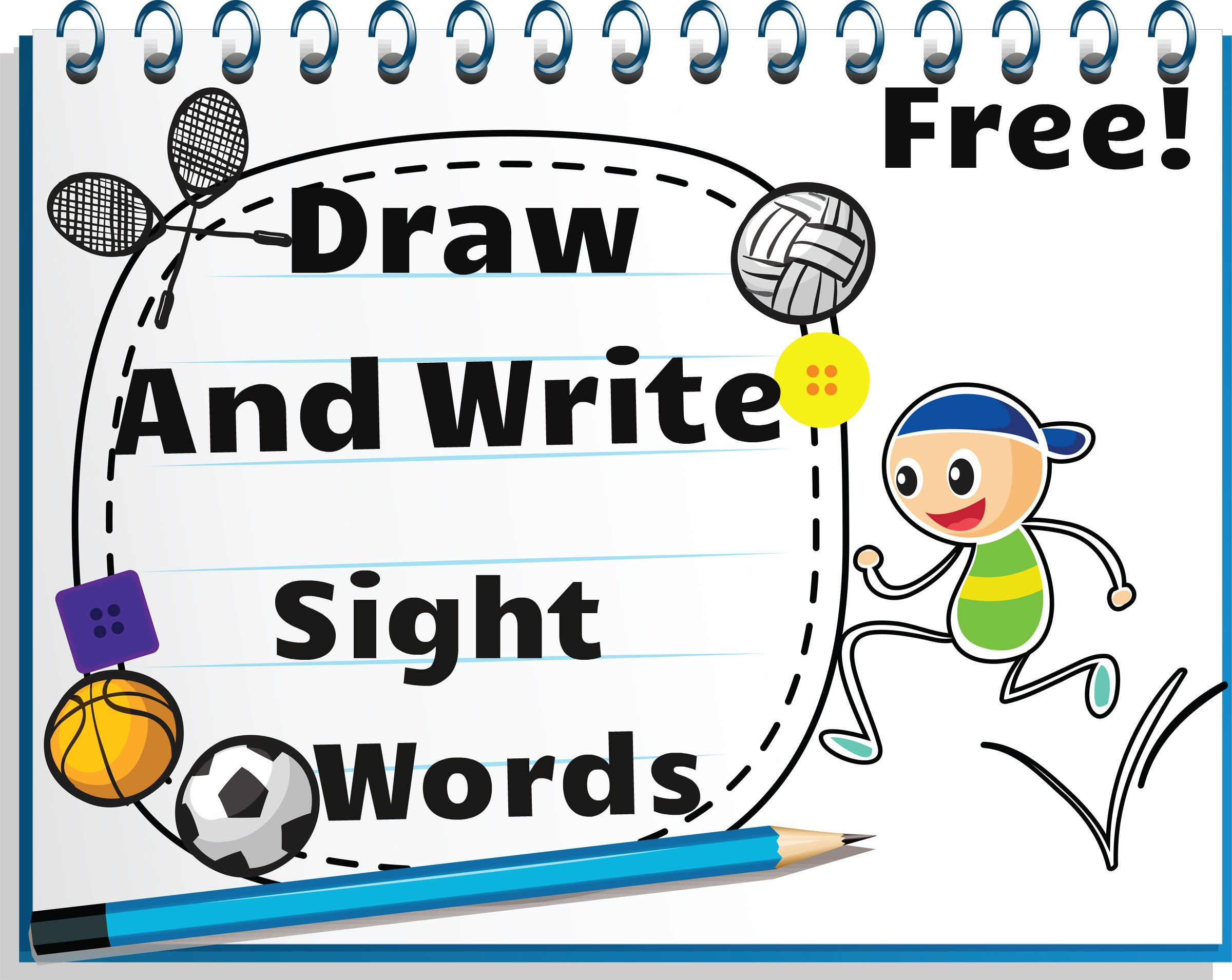 Draw And Write Sight Words Worksheets Great Resource To Teach Sight Words In The Context Of
