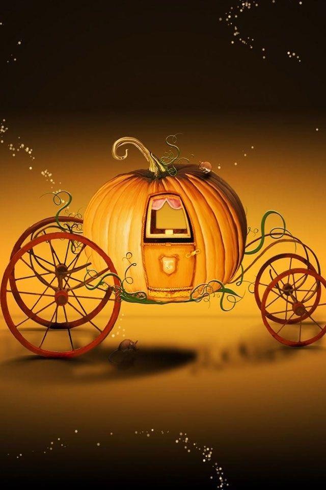 Halloween iPhone Background Wallpaper - Cinderella's Pumpkin Carriage!!! XD <3