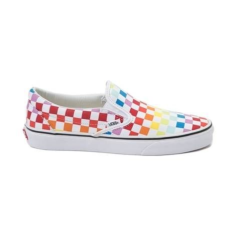 Vans Slip On Rainbow Chex Skate Shoe - multi - 497267  ed9a74bc8