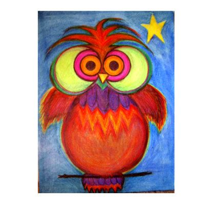 whimsical owl watercolor painting by beltanemoon on etsy 25 00
