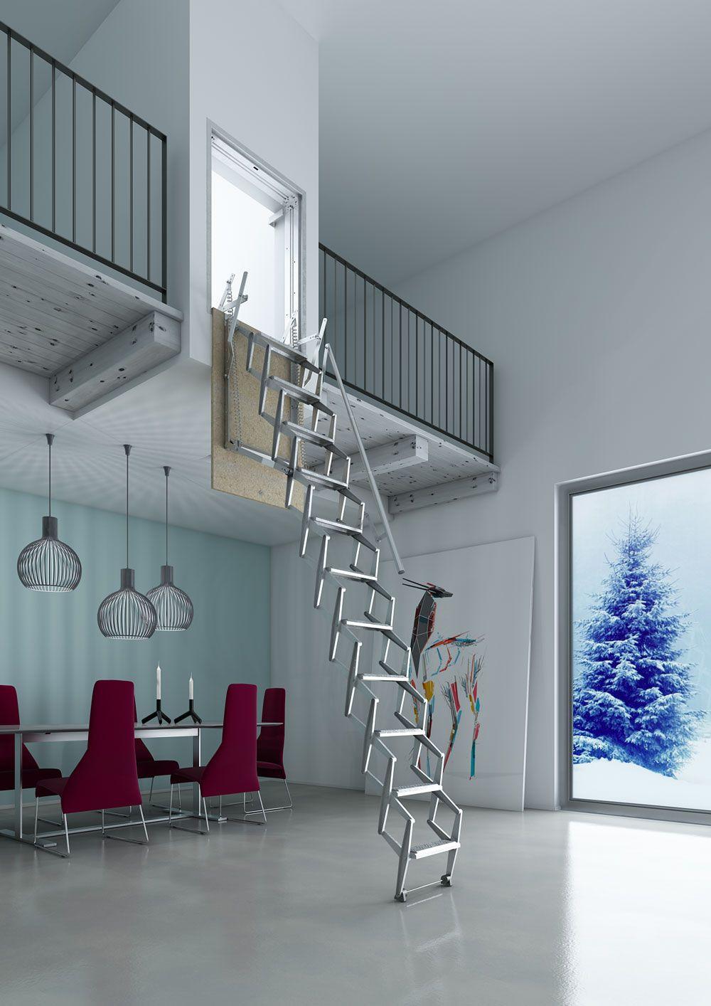 Escalera plegable para techo flexa altillo autom tica en 2019 recetas para cocinar - Escalera plegable para altillo ...