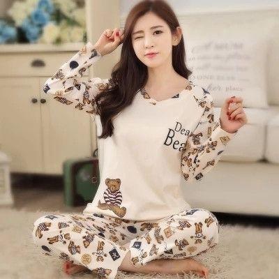aed8ce090b New Listing WAVMIT 2017 Spring Pyjamas Women Carton Cute Pijama Pattern Pajamas  Set Thin Pijamas Mujer Sleepwear Wholesale