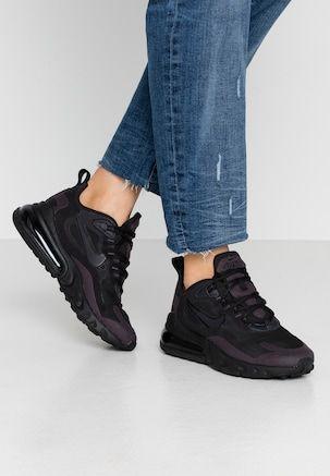 Nike Sportswear AIR MAX 270 REACT - Sneakers - black/oil grey ...