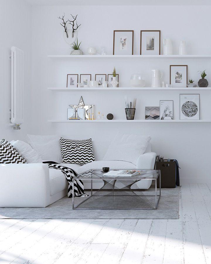 Homedesigning via 3 beautiful scandinavian style interiors