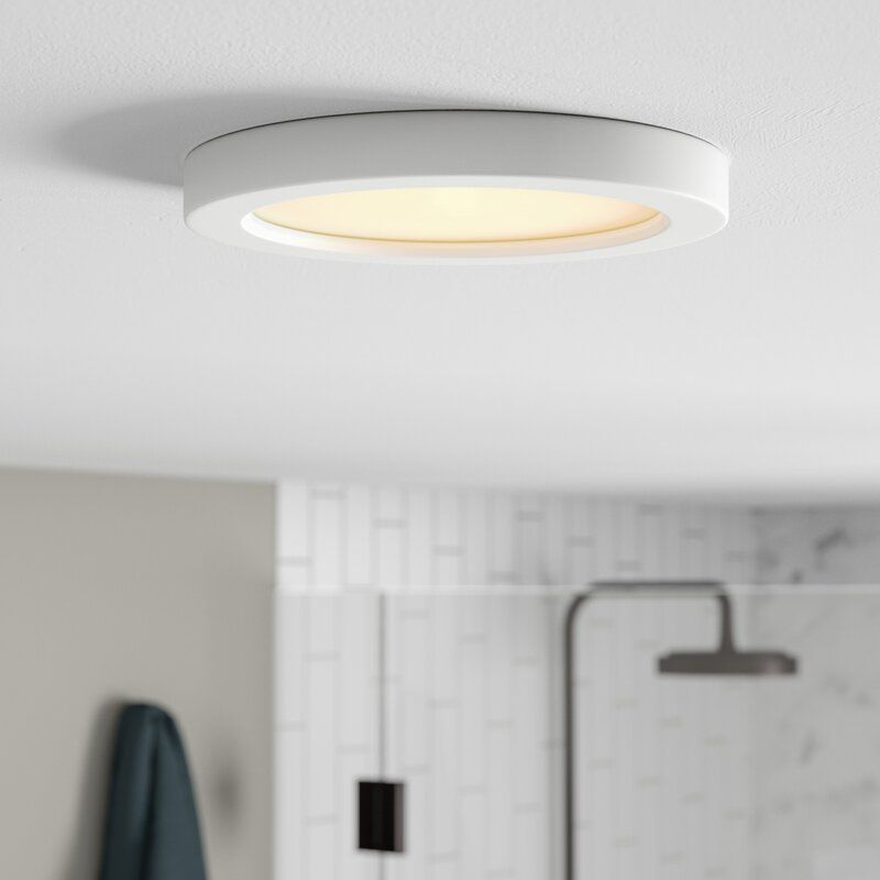 Elzy 1 Light 9 Simple Drum Led Flush Mount In 2020 Led Flush Mount Led Lights Led Fixtures