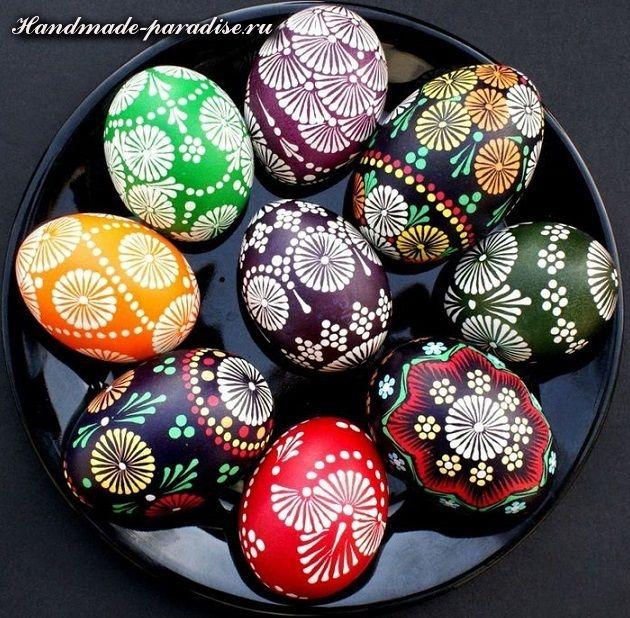 Роспись пасхальных яиц горячим воском | Украшение ...