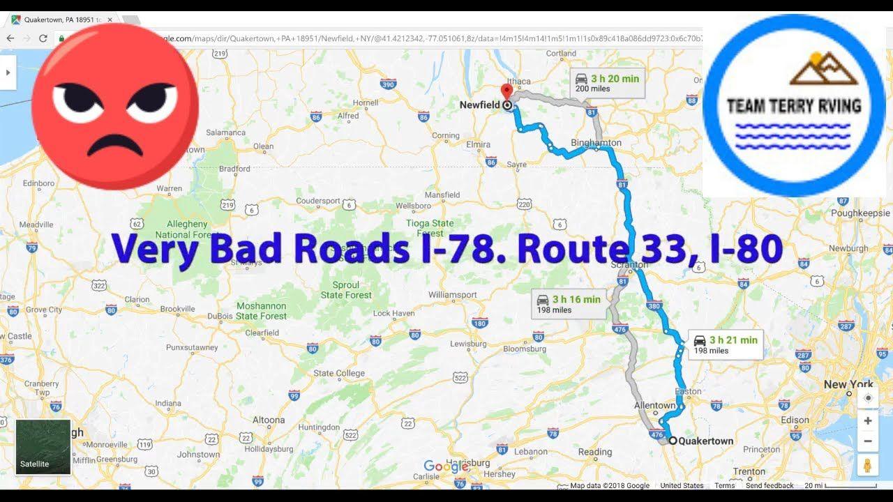 Bad Roads To Drive On S1 Vlog34 Altoona Rv Stuff Newfield