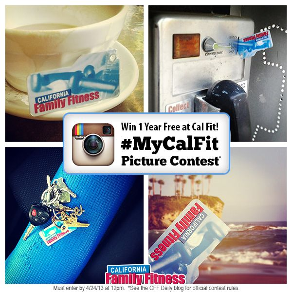 Enter our MyCalFit Instagram Contest for a Chance to Win 1 Year FREE membership at Cal Fit! Yep that's 12 months of access to our award winning clubs! Come on, grab your membership card and start snapping those pics!