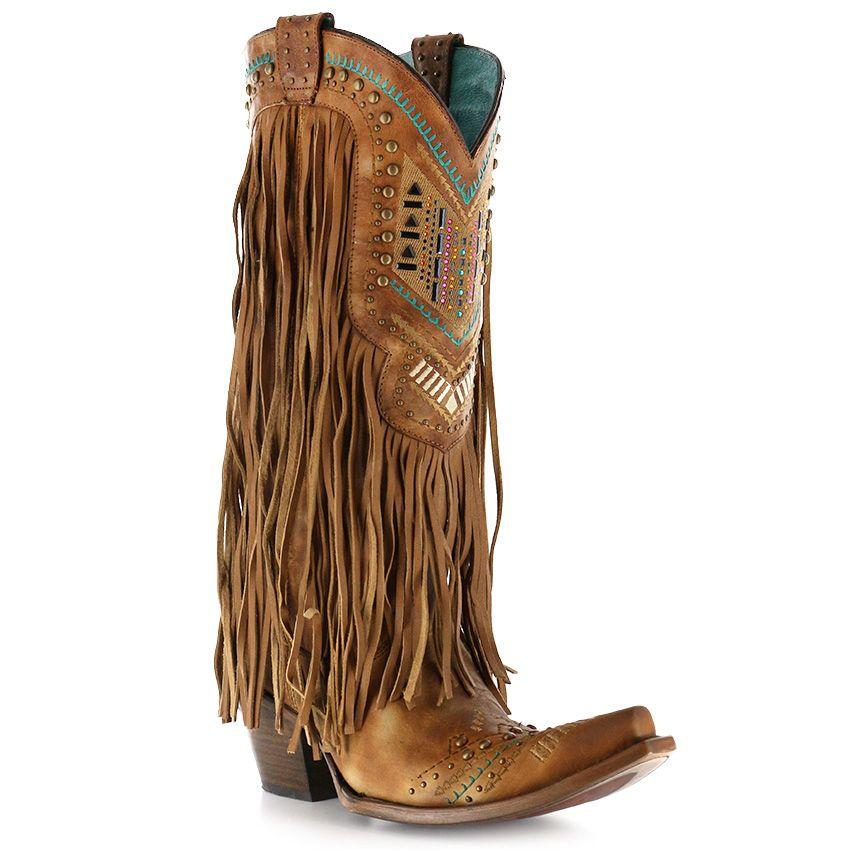 corral women's aztec boots