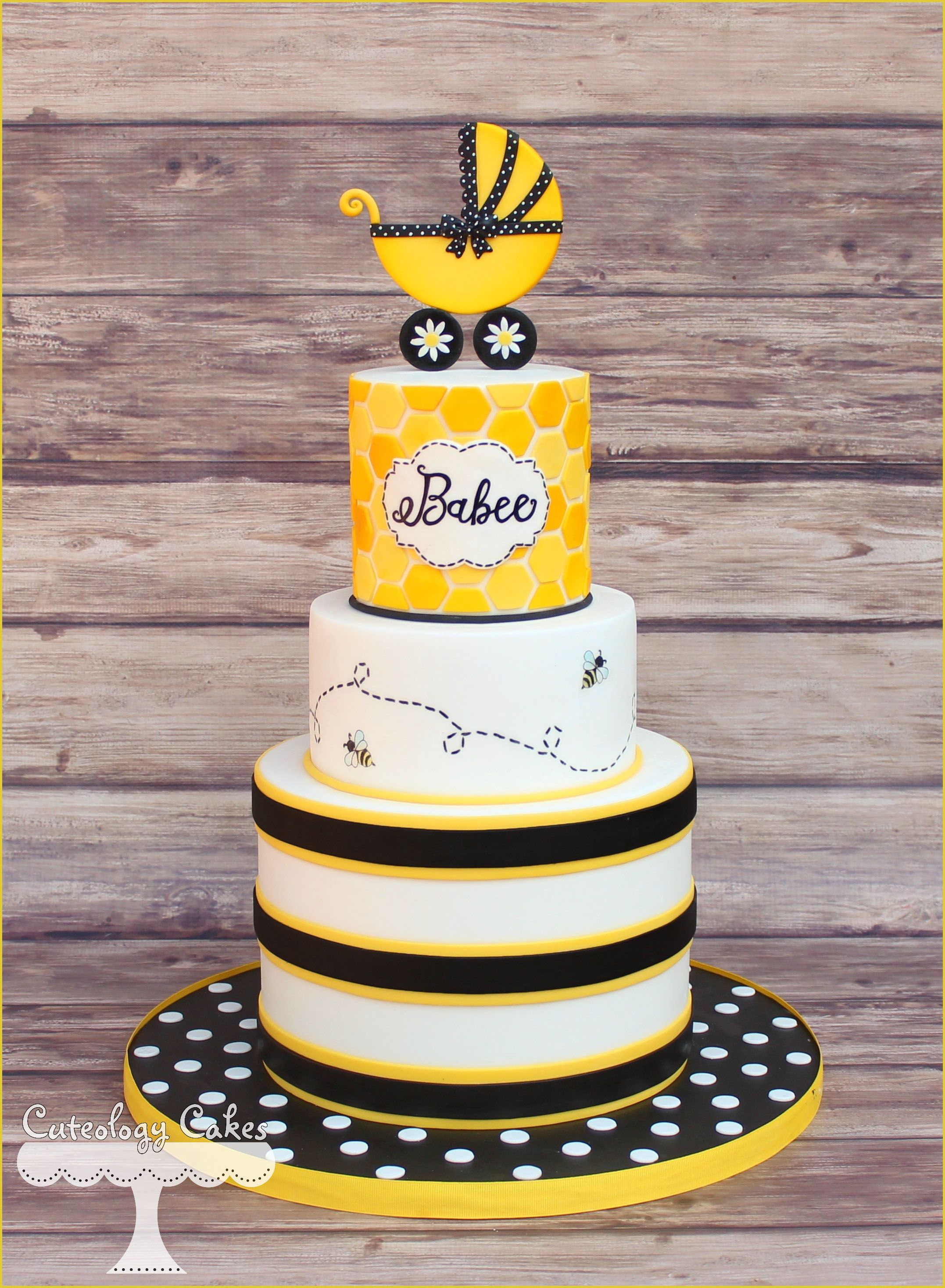 Babee Themed Baby Shower Cake Bee Themed Baby Shower With