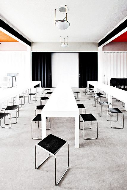 Bauhaus Dessau Kantine Arquitectura, Muebles de oficina y Edificios