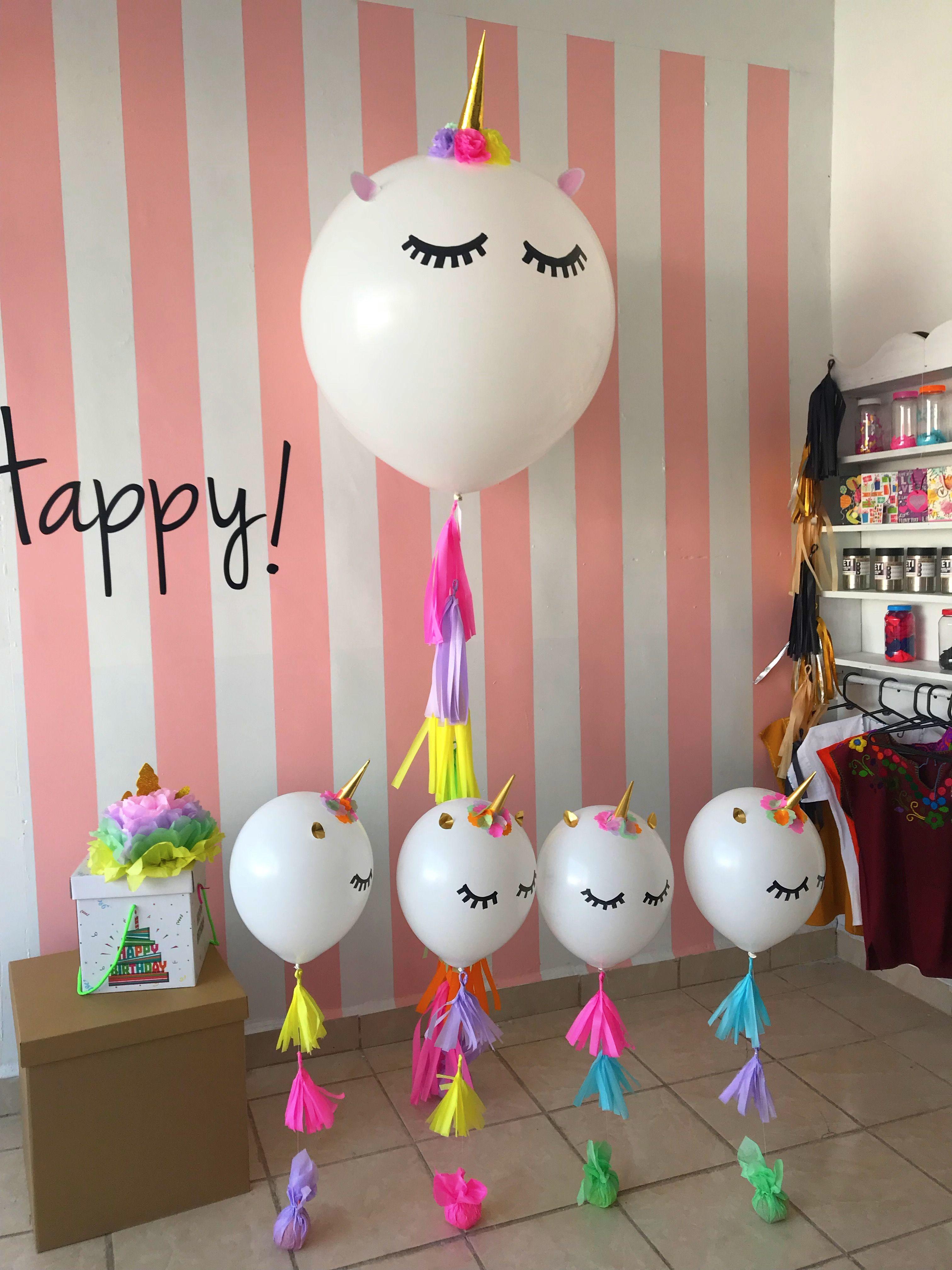 Unicornio unicornios centros de mesa big balloons globo - Centros de decoracion ...
