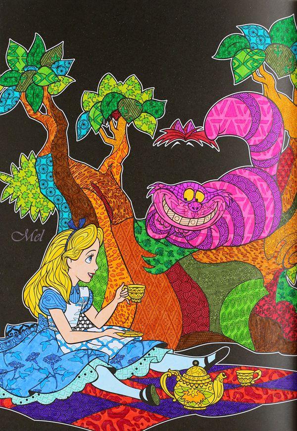 Disney le bestiaire extraordinaire collection art th rapie d 39 hachette coloriages - Coloriage art therapie ...