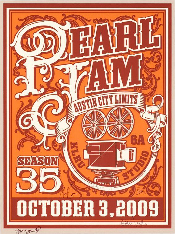 Pearl Jam Ames Bros / Minimal Concert Posters Design