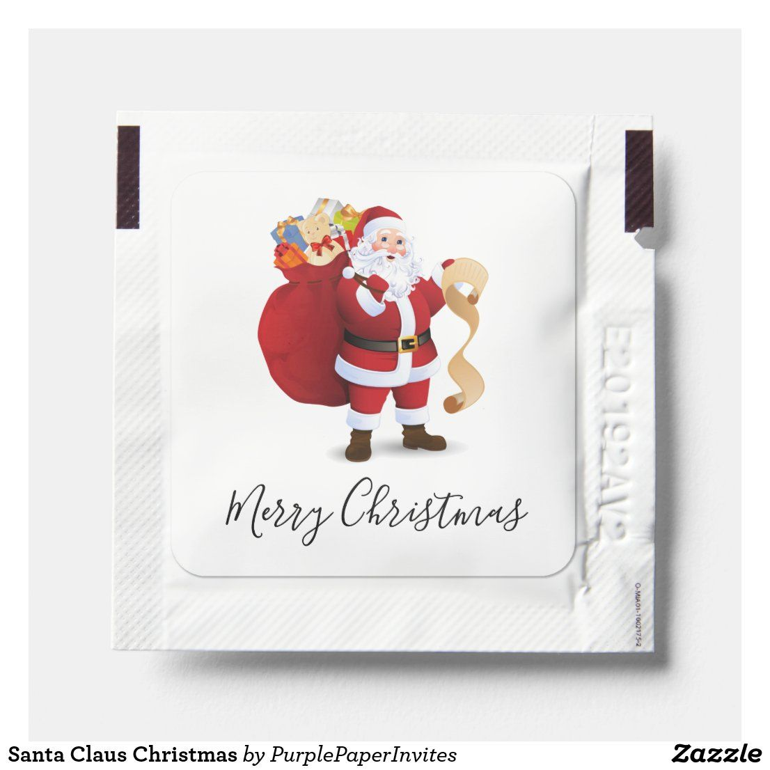 Santa Claus Christmas Hand Sanitizer Packet Zazzle Com In 2020 Hand Sanitizer Christmas Giveaways Custom Christmas
