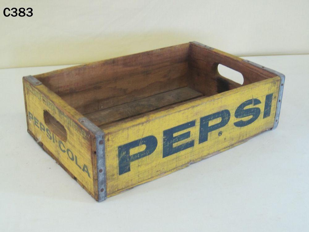 Vintage Plastic Yellow Dr Pepper Soda Pop Bottle Crate Carrier Box