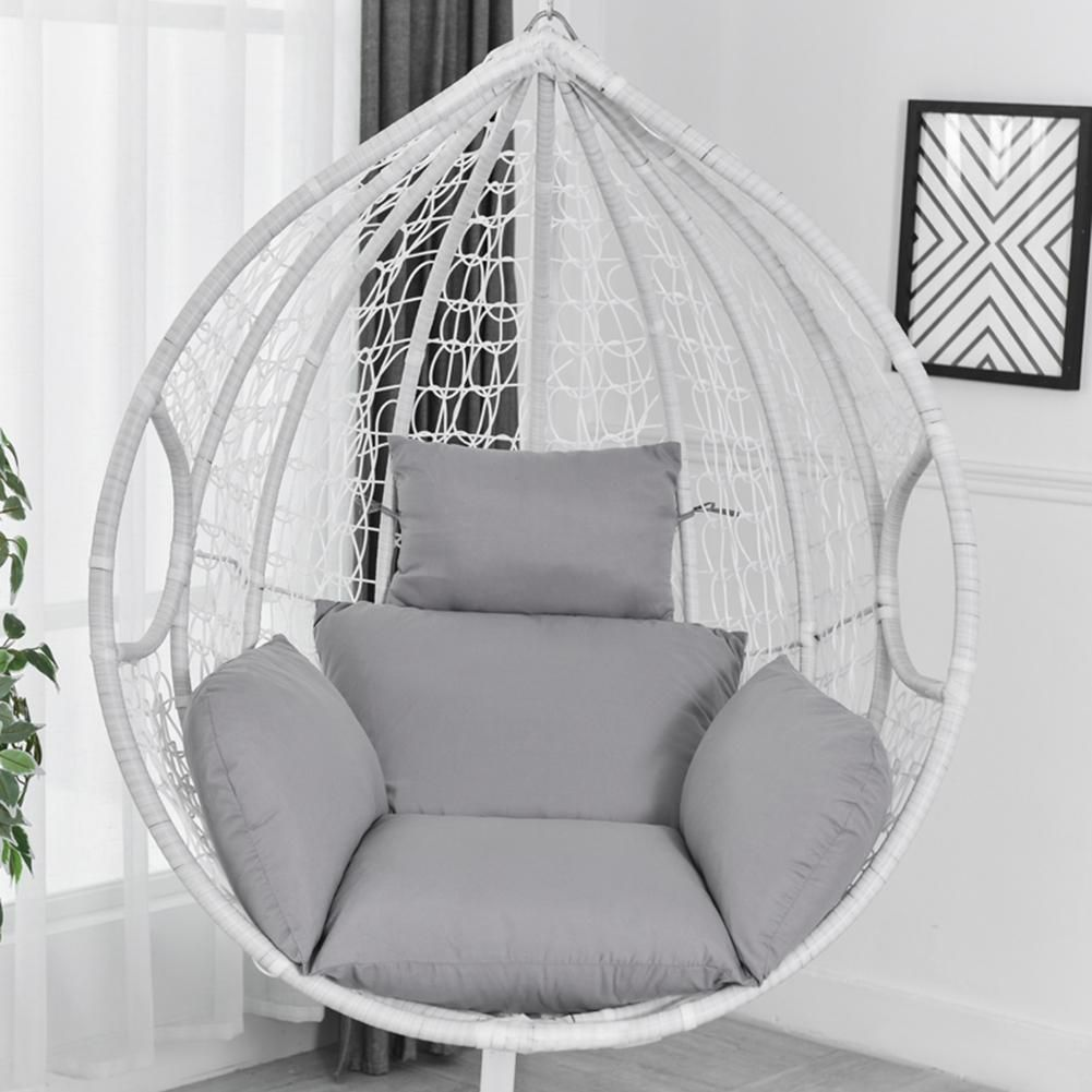 Hanging Hammock Chair Swinging Garden Outdoor Soft Seat Cushion
