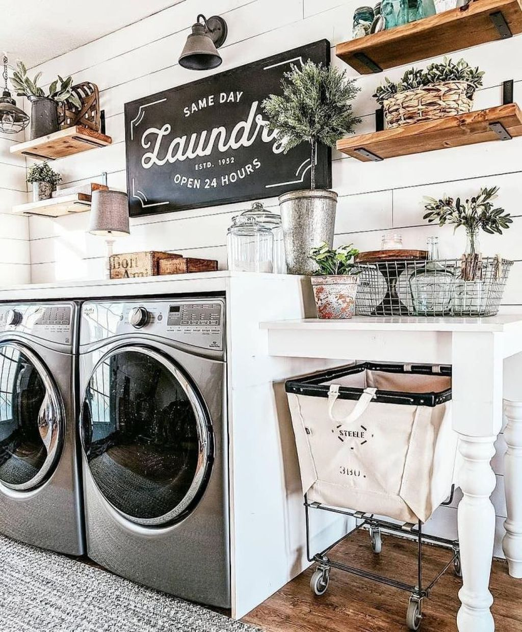 36 Cool Farmhouse Decor Ideas For Laundy Room images