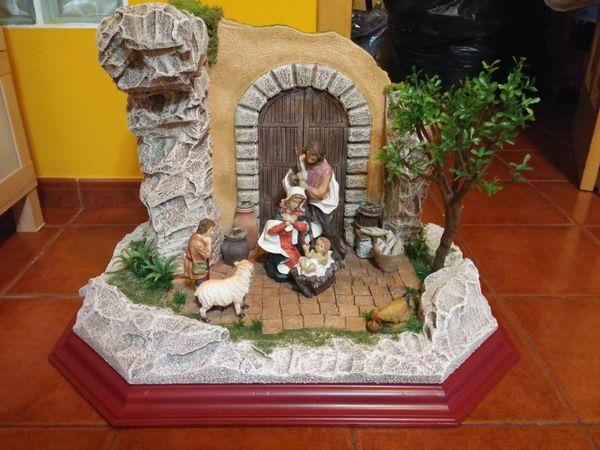 En La Puerta De Grandes Dimensiones Y Con Figura De 24 Cm Coleccion 2016 Pesebre De Navidad Pesebre Navideno Belenes Navidenos