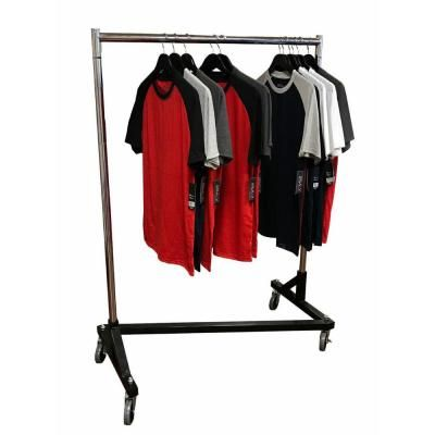 Only Hangers 70 In H X 41 In L X 21 In D Deluxe Adjustable Z Rack Garment Rack With Black Base Gr600 41 In 2020 Garment Racks Heavy Duty Clothes Rack Small Space Design