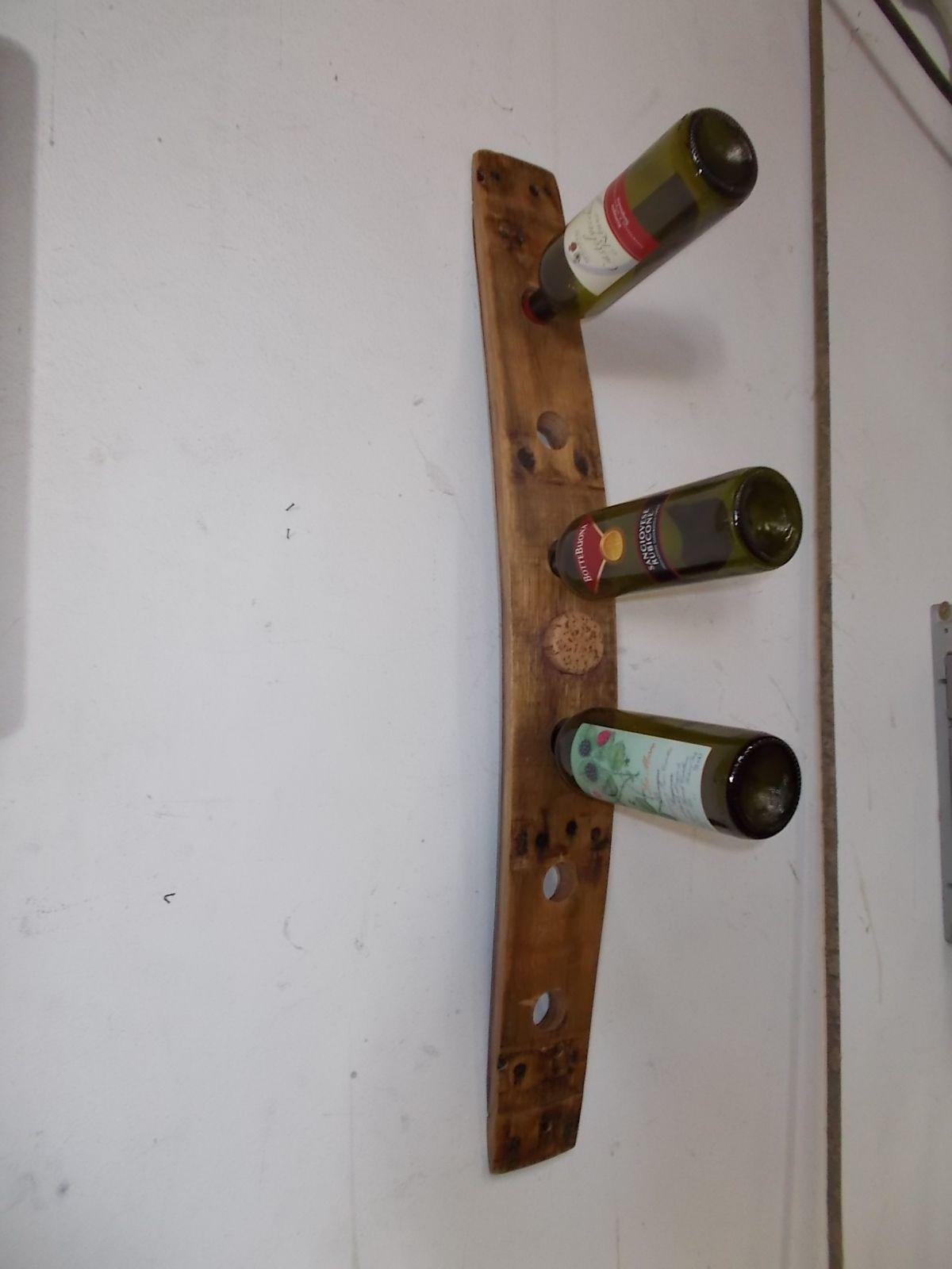 1893 portabottiglie pensile da doga di barrique rustica for Portabottiglie vino fai da te