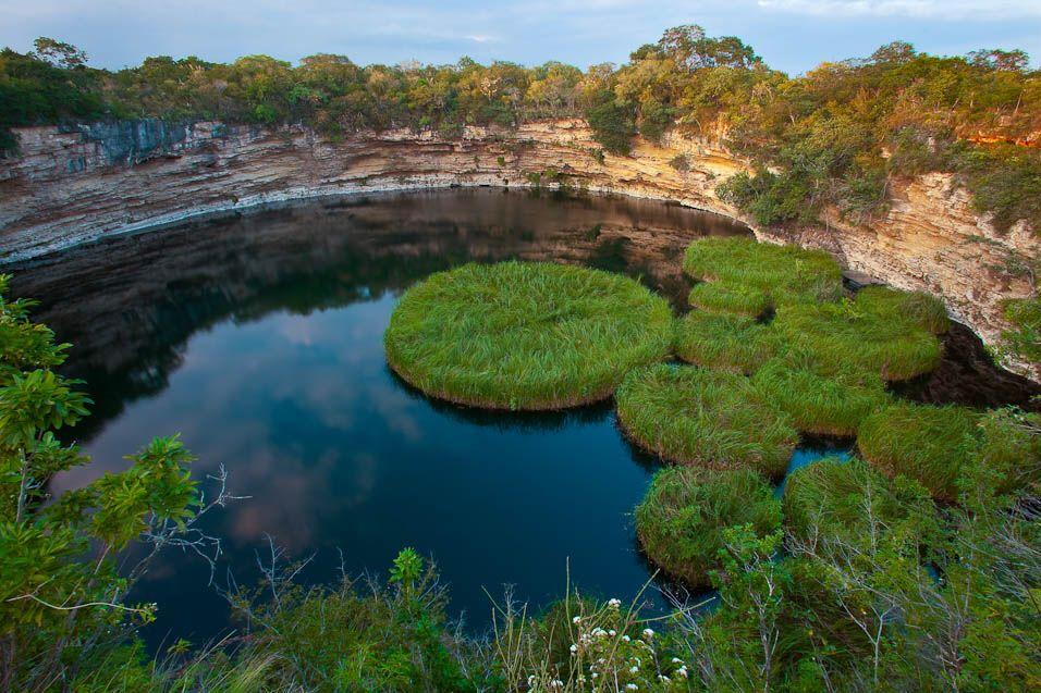 Cenote Tamaulipas Foto Archivo