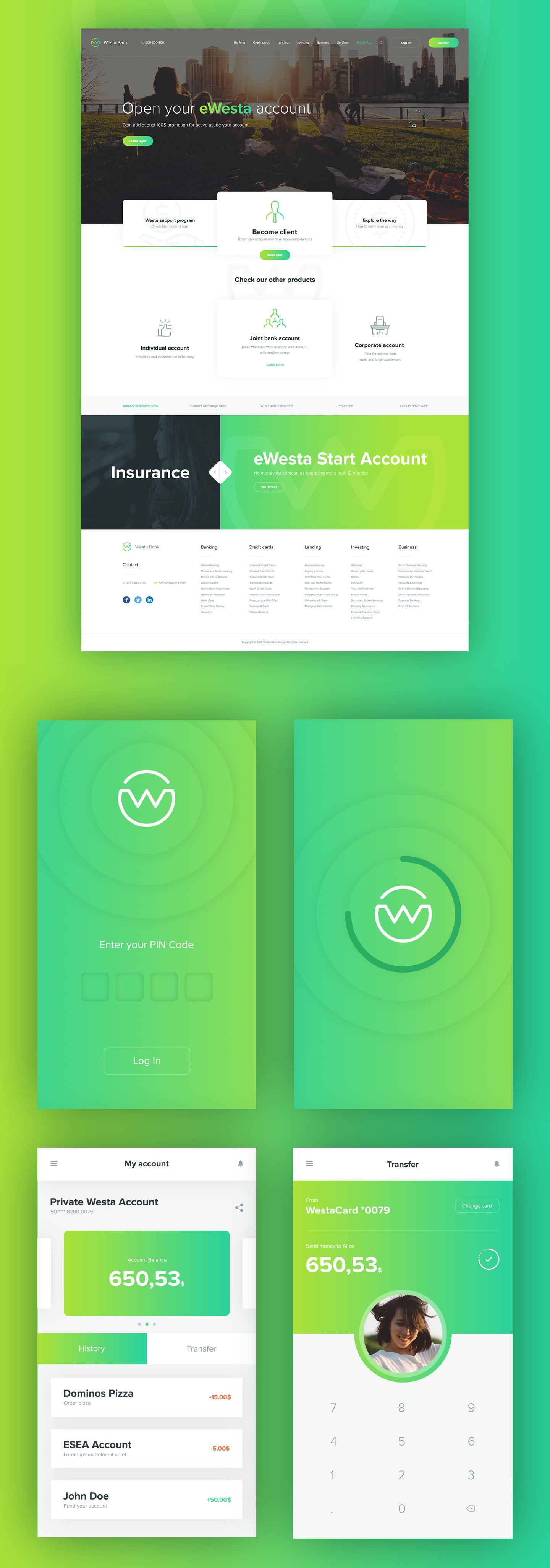 Westa is a flawlessly designed mobile app template with