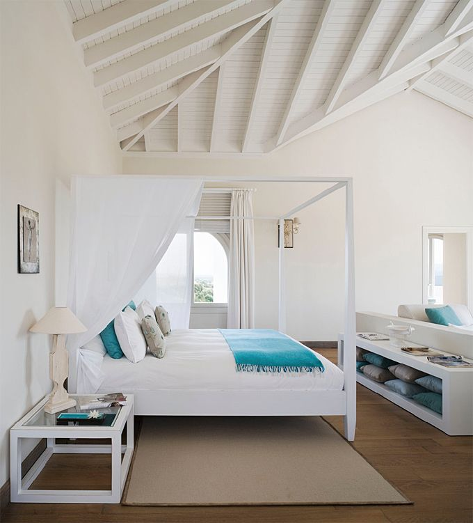 Pin On Inviting Bedrooms, White Beach House Bedroom Furniture