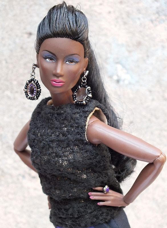 fashion royalty nu face annik pop of color black barbie barbie fashion royalty nu face annik pop of color