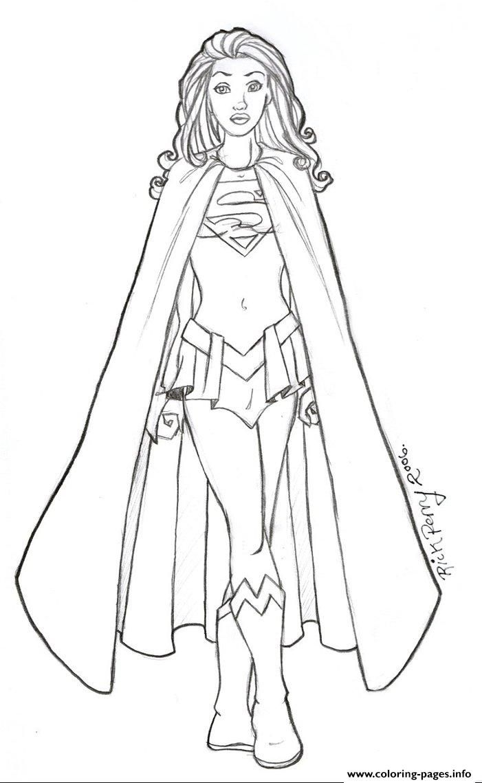 Print Supergirl 12 Coloring Pages Superhero Coloring Pages