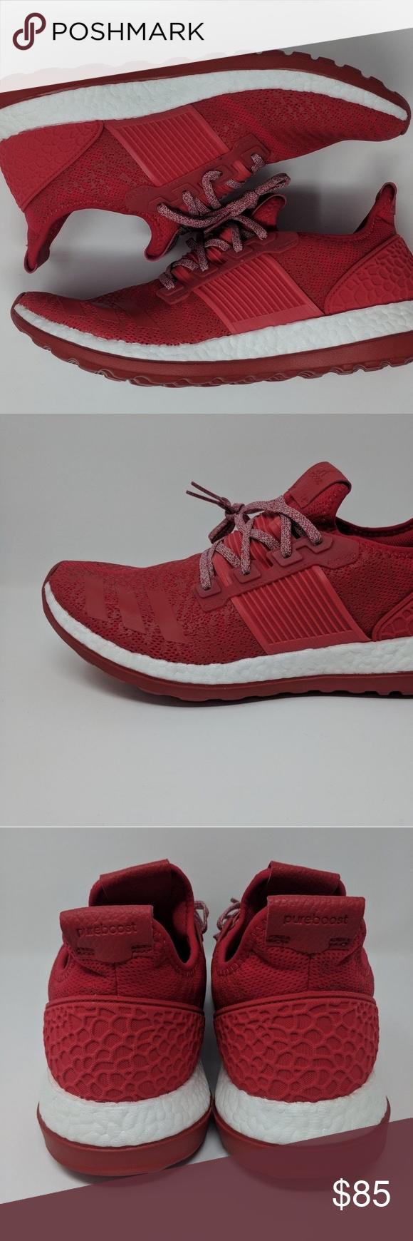 9d0a3f0d3fdf2 Adidas Pure Boost ZG Red Men s Shoe BA8453
