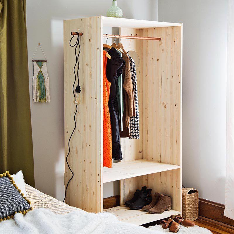 14 Diy Pour Realiser Son Portant A Vetements Marie Claire Diy Rangement Deco Maison Fabriquer Une Armoire