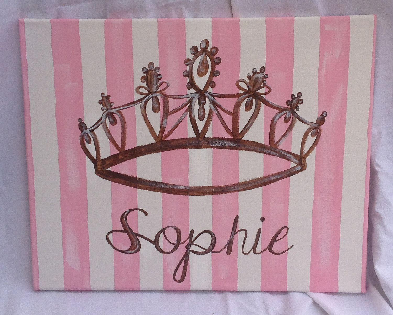 Crown Canvas Mini Canvas Art Princess Canvas Crown Painting