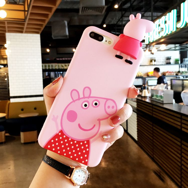 cd7ddcb72 For iPhone 7 Cute 3D Peppa Pig / Duck phone Cases For iphone 6 6s 6plus 7  7Plus Cartoon soft silicon case back cover #Affiliate
