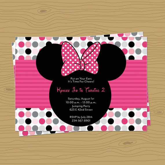Minnie Mouse Themed Birthday Party Invitation By Rocketliv On Etsy 1500