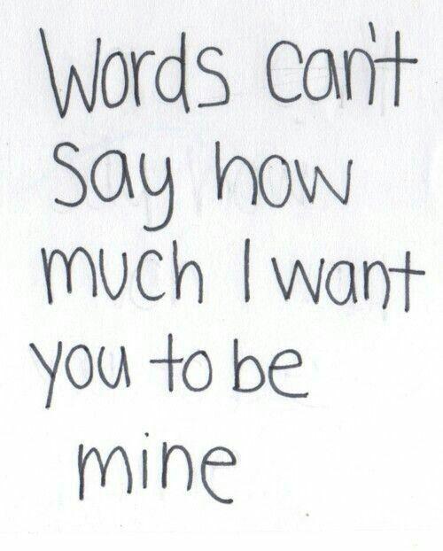 i want u to be mine