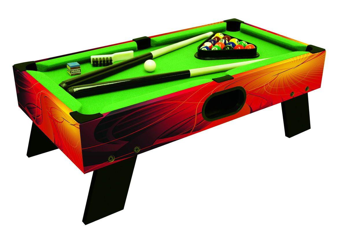 Farbenfrohes Billardspiel Als Tischauflagemodell Mit 4 Kurzen