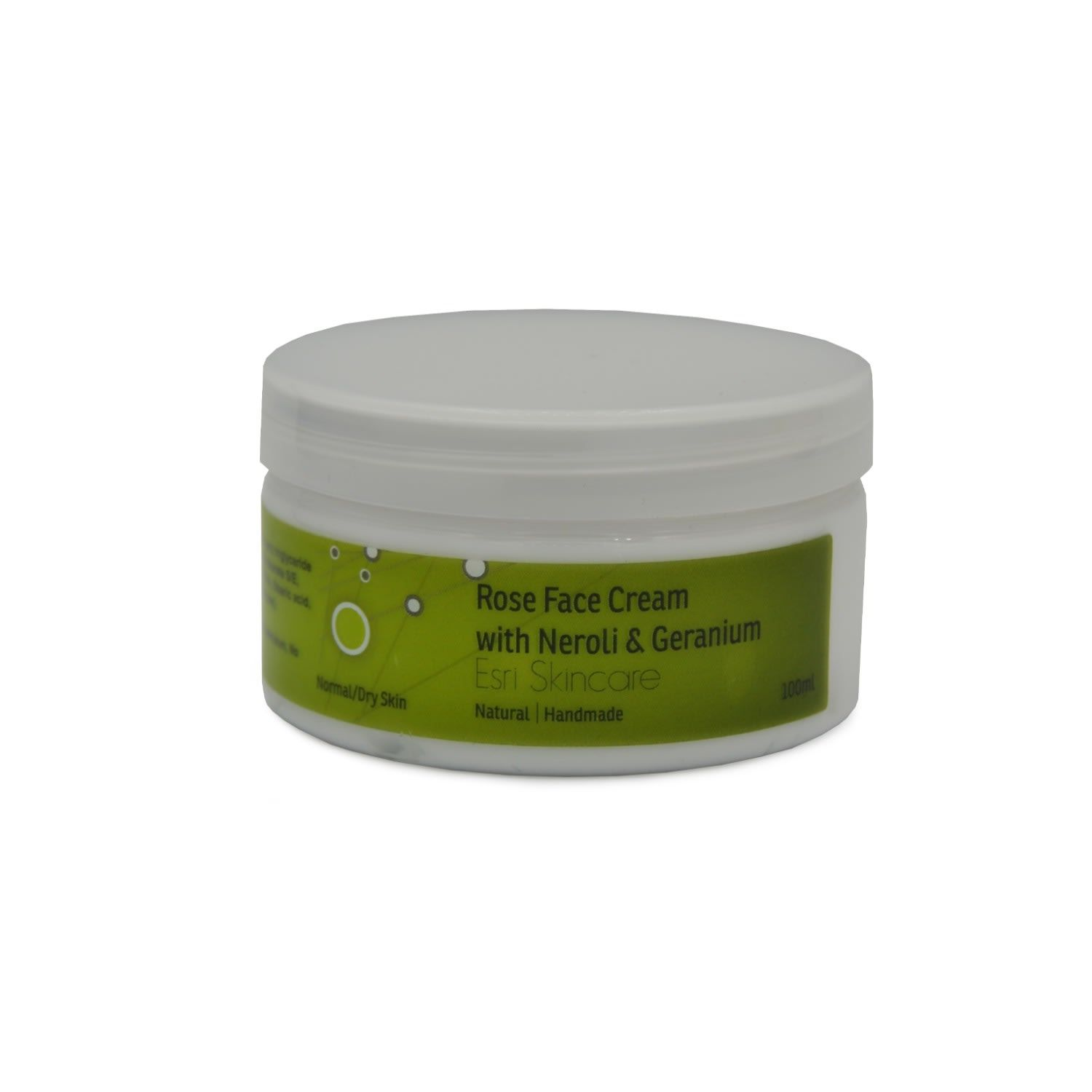 This face cream is made with natural ingredients and is highly moisturising and nourishing. It is excellent for the rehydration of normal to dry skin. The Rose, Neroli, and Geranium makes it ideal for mature skins. Skin Type: Normal/Dry Essential Oils Rose – Cleansing Neroli – Stress Reliever Geranium – Balancing No parabens, No silicones, No sulphates, No mineral oils, No petroleum, No TEA, or DEA, No animal testing, Suitable for vegans Directions After fully cleansing your face, apply the crea