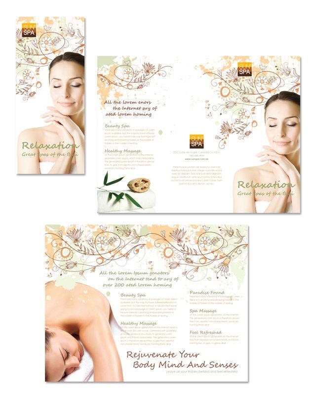 Health  Beauty Spa Tri Fold Brochure Template HttpWwwDlayouts