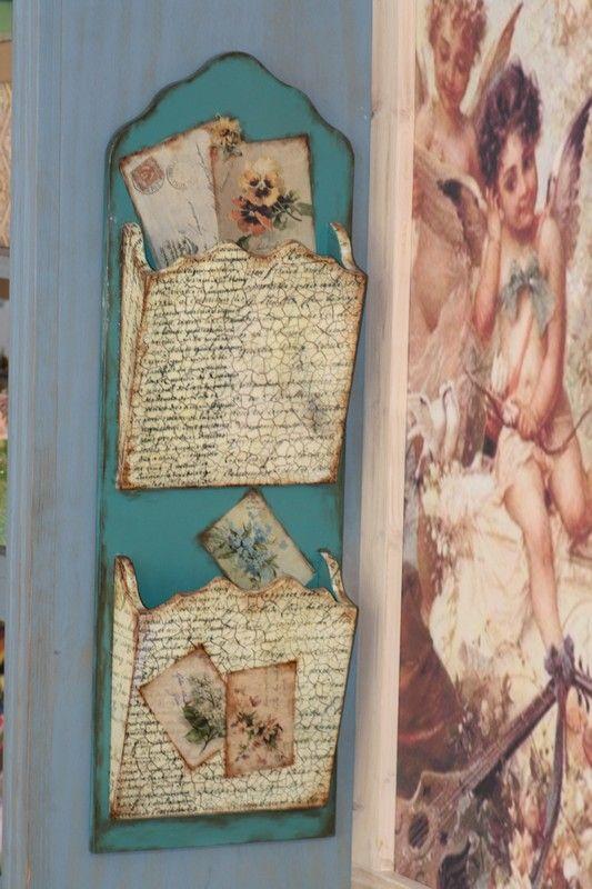 For your letters! Decoupagem Reciclar decorar é vintage