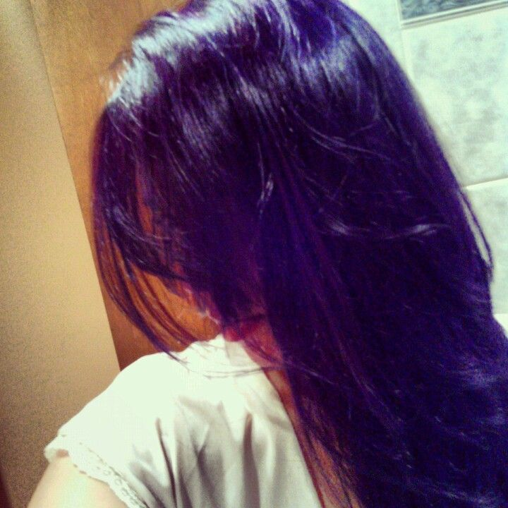 Purple Hair using Pravana Vivids Violet