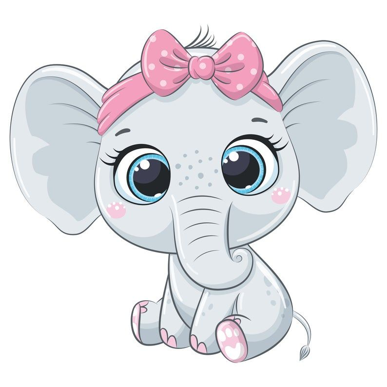 Elephant Baby Shower Clipart Png Jpeg Eps Elephant Baby Girl It S A Girl Nursery Clipart Baby Elephant Drawing Baby Animal Drawings Baby Cartoon
