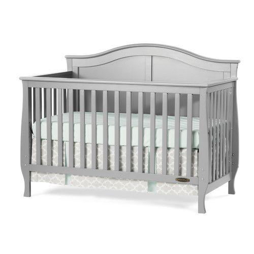 Camden 4 In 1 Convertible Crib Grey Crib Cribs