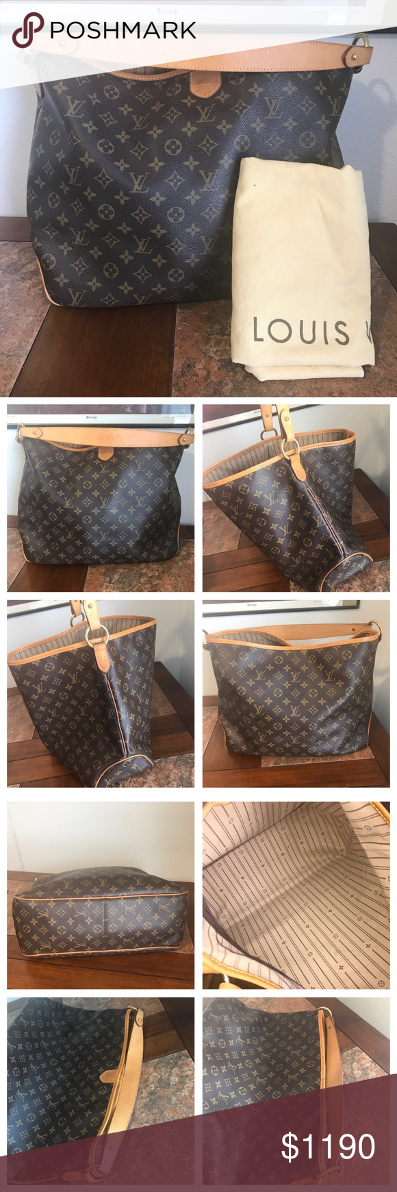 4b6fdcd1bb1 Louis Vuitton Monogram Delightful MM 100%. Authentic Louis Vuitton  Delightful Mm Great condition No rip or crack Leather aging