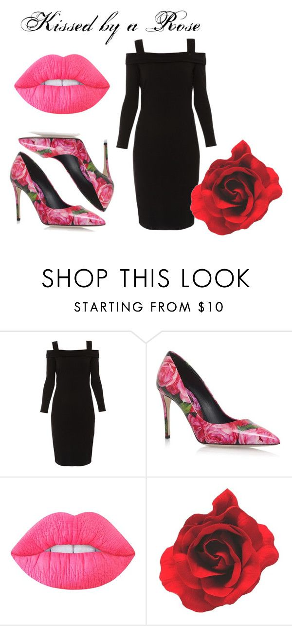 """Kissed by a Rose"" by adrienne-matranga ❤ liked on Polyvore featuring Elie Tahari, Dolce&Gabbana and Lime Crime"