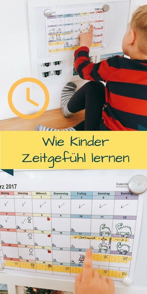Zeitgefühl für Kinder, kostenloser Kalender für Kinder, Kalender mit ...