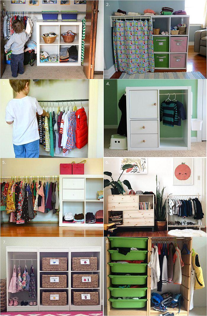 Montessori Closet / Wardrobe Ideas and Inspiration (how we ...